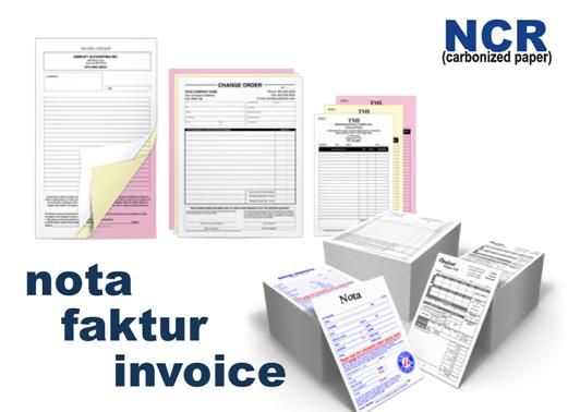 Tekno Printing Cetak Nota Kwitansi Invoice Diserpong